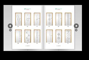 Katalog wzorów piaskowanych na przykładzie drzwi szklanych